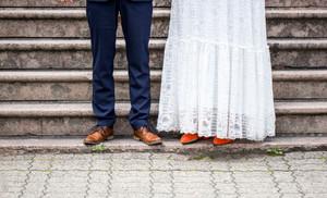 Bryllupsfotografering ved rådhuset i Kragerø