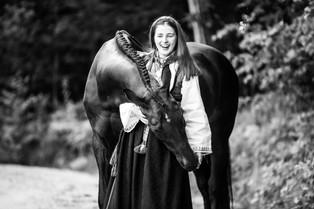 Konfirmantfotografering med hest, Kragerø