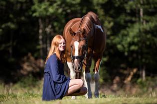 Konfirmant med hest, Kragerø