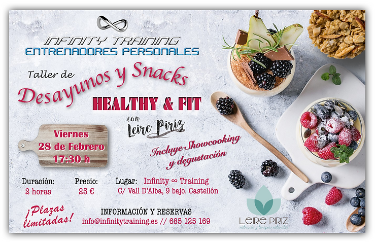 TALLER DESAYUNOS Y SNACKS HEALTHY & FIT.
