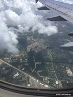 Flying over California