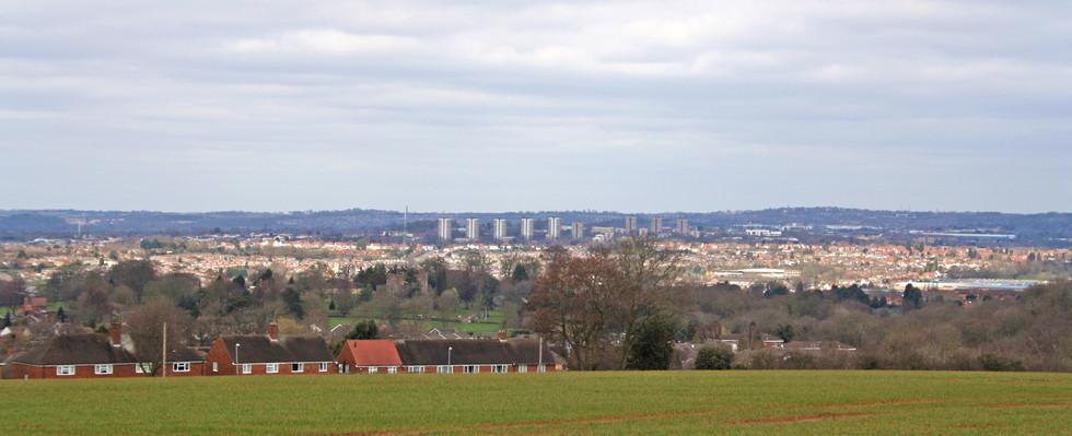 Overlooking the borough from Stourbridge