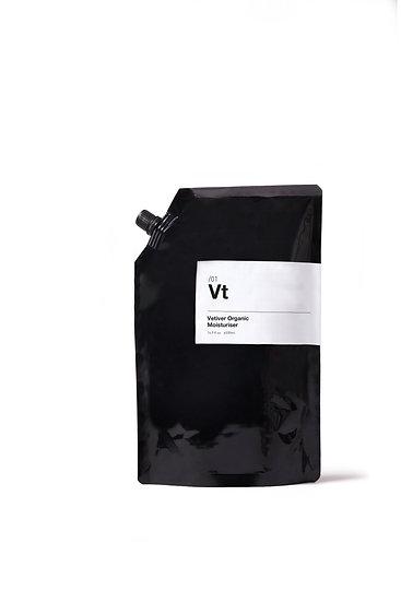 Vetiver moisturiser refill pouch 500ml