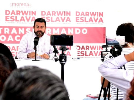 """No permitiremos que le ganen a MORENA de manera tramposa en Coacalco"": Darwin Eslava"