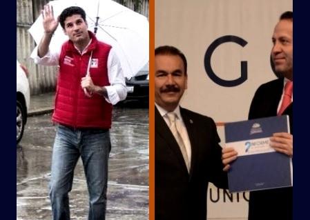 Enrique Geyne (Del Mazo) y Pedro Rodríguez (Eruviel), buscarán el triunfo del PAN en Atizapán