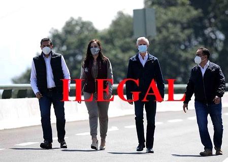 Alfredo del Mazo y Patricia Durán Reveles, inauguraron puente vehicular…¡ilegalmente!