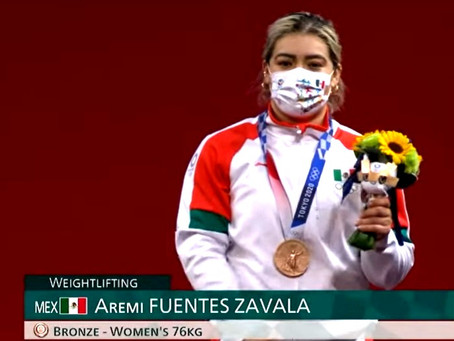 #Olímpicos Aremi Fuentes le da a México su tercera medalla de bronce