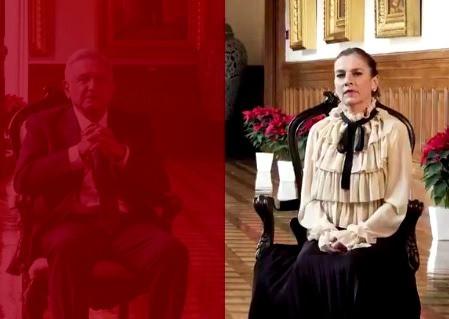 Beatriz Gutiérrez Müller, estrena blusa Gucci de 37 mil pesos, en su mensaje navideño