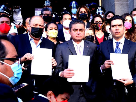 PAN PRI y PRD se unen contra la Ley de Revocación de Mandato de López Obrador