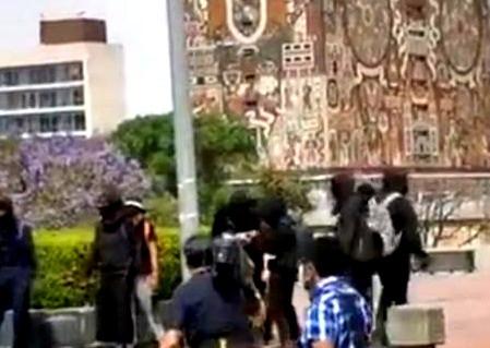 Vandalizan a la UNAM
