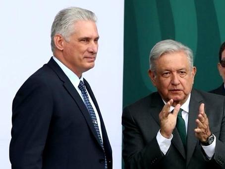 López Obrador defiende la dictadura de Miguel Díaz-Canel en Cuba