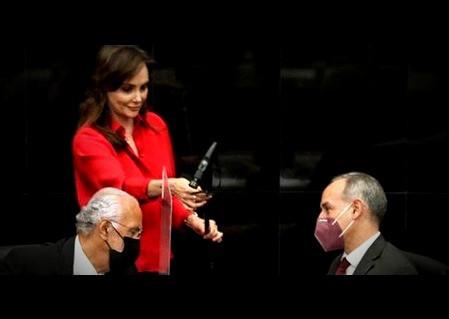 Lilly Téllez destroza a Hugo López Gatell, en el Senado de la República