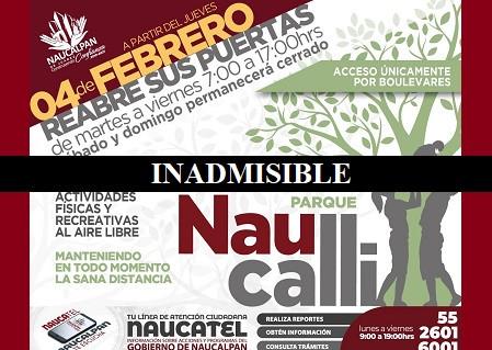 En plena pandemia, Patricia Durán Reveles autoriza reapertura del Parque Naucalli