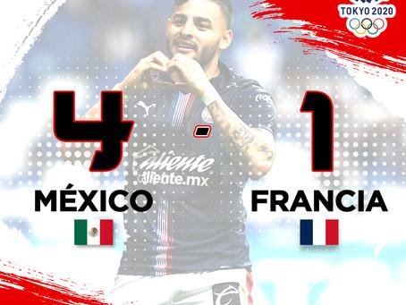 México golea a Francia al iniciar el fútbol en los Juegos Olímpicos de Tokio 2020