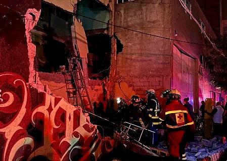 Momento exacto de la explosión en la colonia Morelos, Ciudad de México