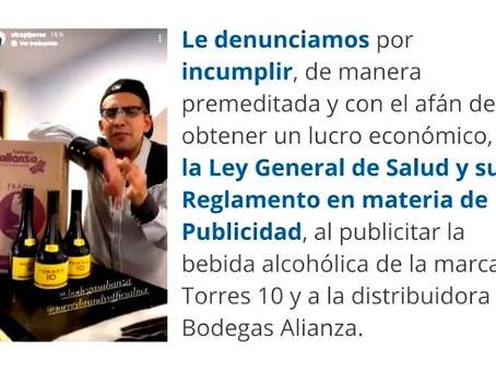 """Denuncian a """"El Capi Pérez"""" ante la COFEPRIS, por promocionar bebidas alcohólicas"""