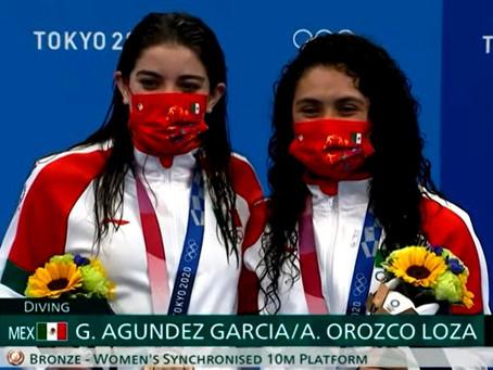 #Olímpicos Gabriela Agúndez y Alejandra Orozco, ganan medalla de bronce en la plataforma de 10 mts