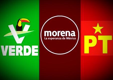 Verde Ecologista y Partido del Trabajo, se unen a MORENA para evitar el derrumbe de López Obrador