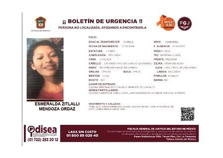 Policía de Coacalco, niega videos para analizar posible secuestro de jovencita