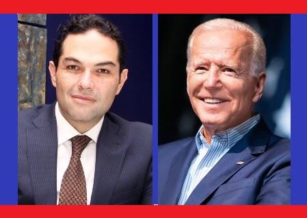 Enrique Vargas del Villar, felicita a Joe Biden por su triunfo en Estados Unidos