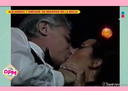 Escándalo por el beso entre Alejandra Guzmán y su papá Enrique Guzmán