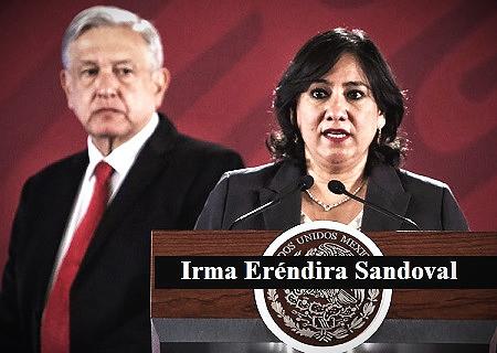 La titular de la SFP, Irma Eréndira Sandoval, no reportó propiedades por más de 50 millones de pesos