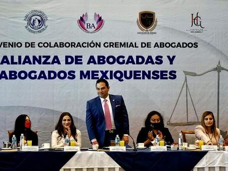 Enrique Vargas del Villar deja grata impresión con los abogados mexiquenses