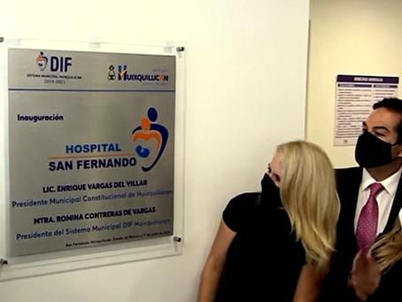 Enrique Vargas del Villar y Romina Contreras Carrasco, inauguran tercer hospital en Huixquilucan