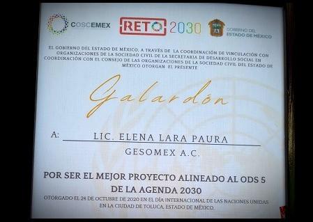 Elena Lara y GESOMEX, entre los mejores proyectos a la Agenda 2030