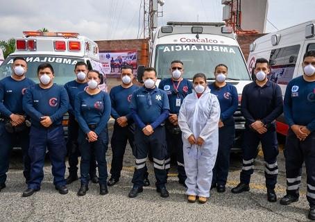 Darwin Eslava reconoce a paramédicos; Coacalco cuenta con el mejor personal para atender emergencias