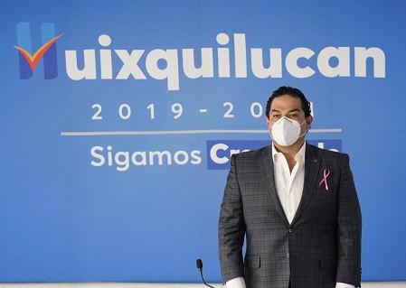Enrique Vargas del Villar indica a López Obrador, que Huixquilucan está listo para las vacunas