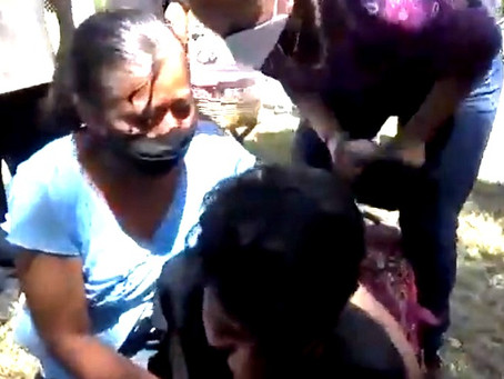 Equipo de seguridad de López Obrador, golpea a joven en Veracruz