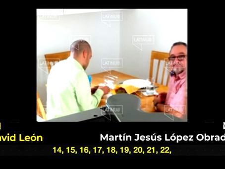 Martín Jesús López Obrador, es descubierto recibiendo dinero
