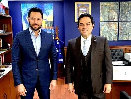 Anuar Azar Figueroa, llega al PAN Edomex con el respaldo de Enrique Vargas del Villar