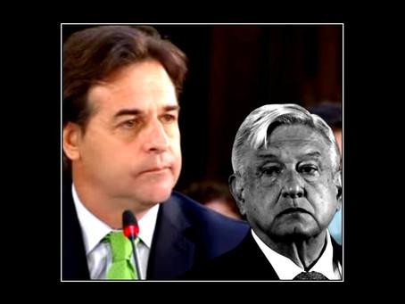 "Luis Lacalle Pou, le amarga la fiesta ""democrática"" a López Obrador"