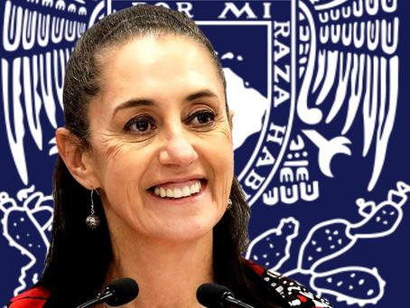 Claudia Sheinbaum (la elegida de López Obrador), también atacó a la UNAM