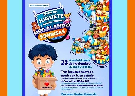 Enrique Vargas del Villar y Romina Contreras Carrasco, inician campaña de recolección de juguetes
