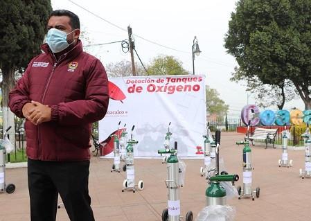 Darwin Eslava inicia programa de dotación y recarga de tanques de oxígeno