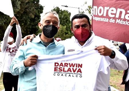 Priistas se suman a Darwin Eslava