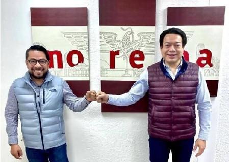 Daniel Serrano Palacios se reúne con Mario Delgado