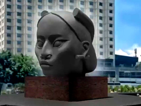"""¡Vergonzoso! Conozcan a """"Tlali"""", la escultura que sustituirá a la estatua de Cristóbal Colón"""