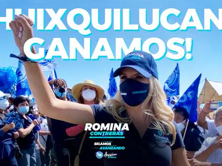 Romina Contreras Carrasco anuncia su triunfo en Huixquilucan
