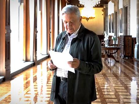 """López Obrador pide estar de """"buen ánimo y practicar alguna religión"""", para eliminar el COVID-19"""
