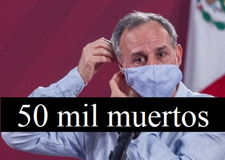 México supera los 50 mil muertos por COVID-19; Lilly Téllez denunciará penalmente a Gatell
