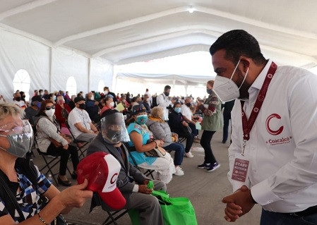 Exitoso resultó el esquema para la vacuna contra COVID en Coacalco