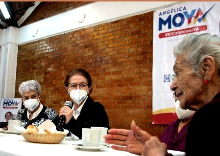 Angélica Moya anuncia policía exclusiva para atender a los adultos mayores
