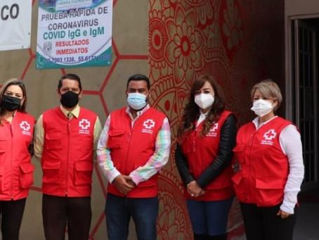 La Cruz Roja Coacalco agradece el apoyo del alcalde Darwin Eslava