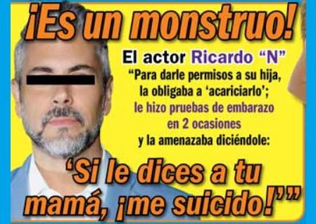 Hija del actor Ricardo Crespo, tuvo retraso menstrual por los constantes abusos de su propio padre