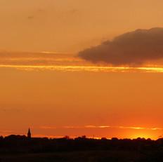 Sunsetting Over  Goldenhill
