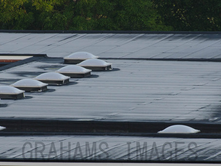 Today  June 10th,  i was surprised to see at 5 am on the local school roof a covering of frost
